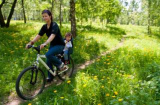 Le transport des enfants à vélo