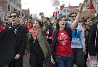 Les étudiants et la grève