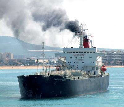 Un cargo entre dans le port de Palma de Majorque, en Espagne. Photo : Justin Kase Zninez / Alamy