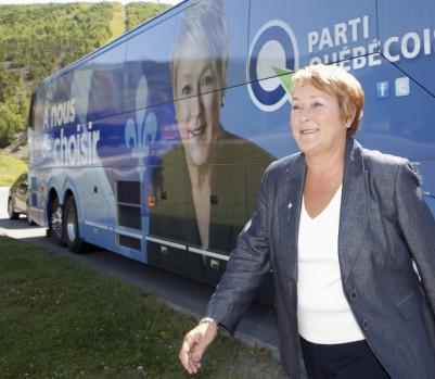 Pauline Marois lors de la campagne électorale 2012, il y a 14 mois. (crédit: Presse canadienne)