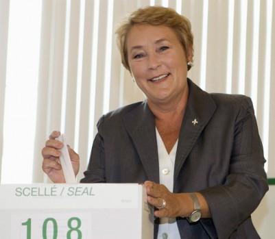 Pauline Marois lors du scrutin de septembre 2012. (crédit photo: Jacques Boissinot/Presse canadienne)