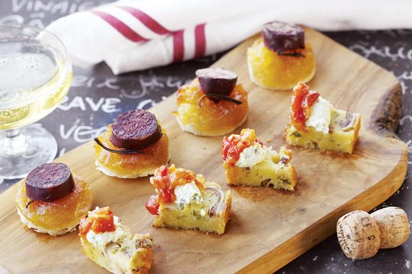 Cake aux lardons avec cervelle de canut et piperade tatin - Cervelle de canut recette ...