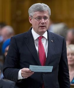 Stephen Harper.  Adrian Wyld / La Presse Canadienne