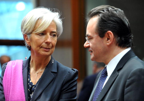 Christine Lagarde et Giorgios Papaconstantinou (Photo © Georges Gobet / AFP / Getty Images)