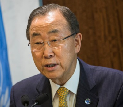 United Nations Secretary General Ban Ki-Moon Speaks On The Ebola Crisis