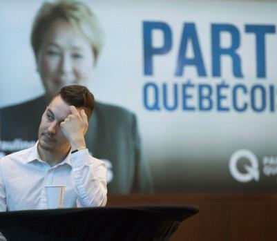 Un militant du Parti québécois le soir des dernières élections, le 7 avril 2014. (crédit photo: Ryan Remiorz/La Presse Canadienne)