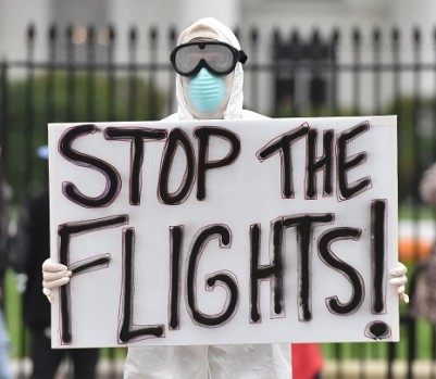 US-HEALTH-EBOLA-PROTEST
