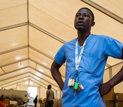 Outbreak of Ebola in Liberia.