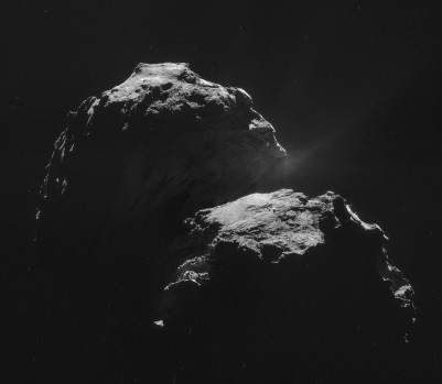 Premier message transmis par le robot posé sur la comète : «Pas de trace de François Rebello ici non plus.»