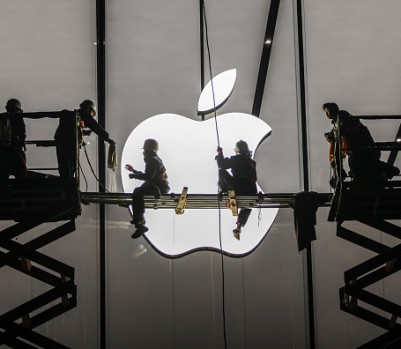 Apple Fans Wait For The Largest Apple Store To Open In Hangzhou