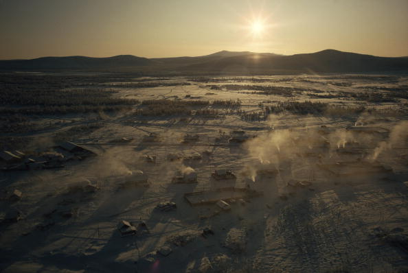Oymyakon is especially cold because nearby mountains trap frigid air