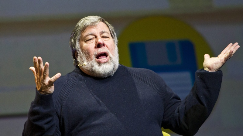 Steve Wozniak, lors de son allocution à la Place des Arts. (Photo: Newzulu)