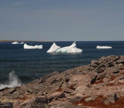 De mai à juillet, les icebergs défilent dans le détoit de Belle-Isle, entre Blanc-Sablon et Terre-Neuve. – Crédit photo: ©Gary Lawrence