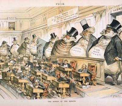 The Bosses of the Senate, une illustration de Joseph Keppler.
