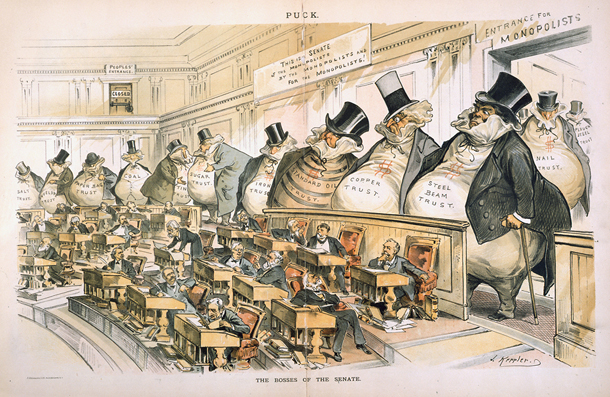 The Bosses of the Senate, une illustration de Joseph Keppler.