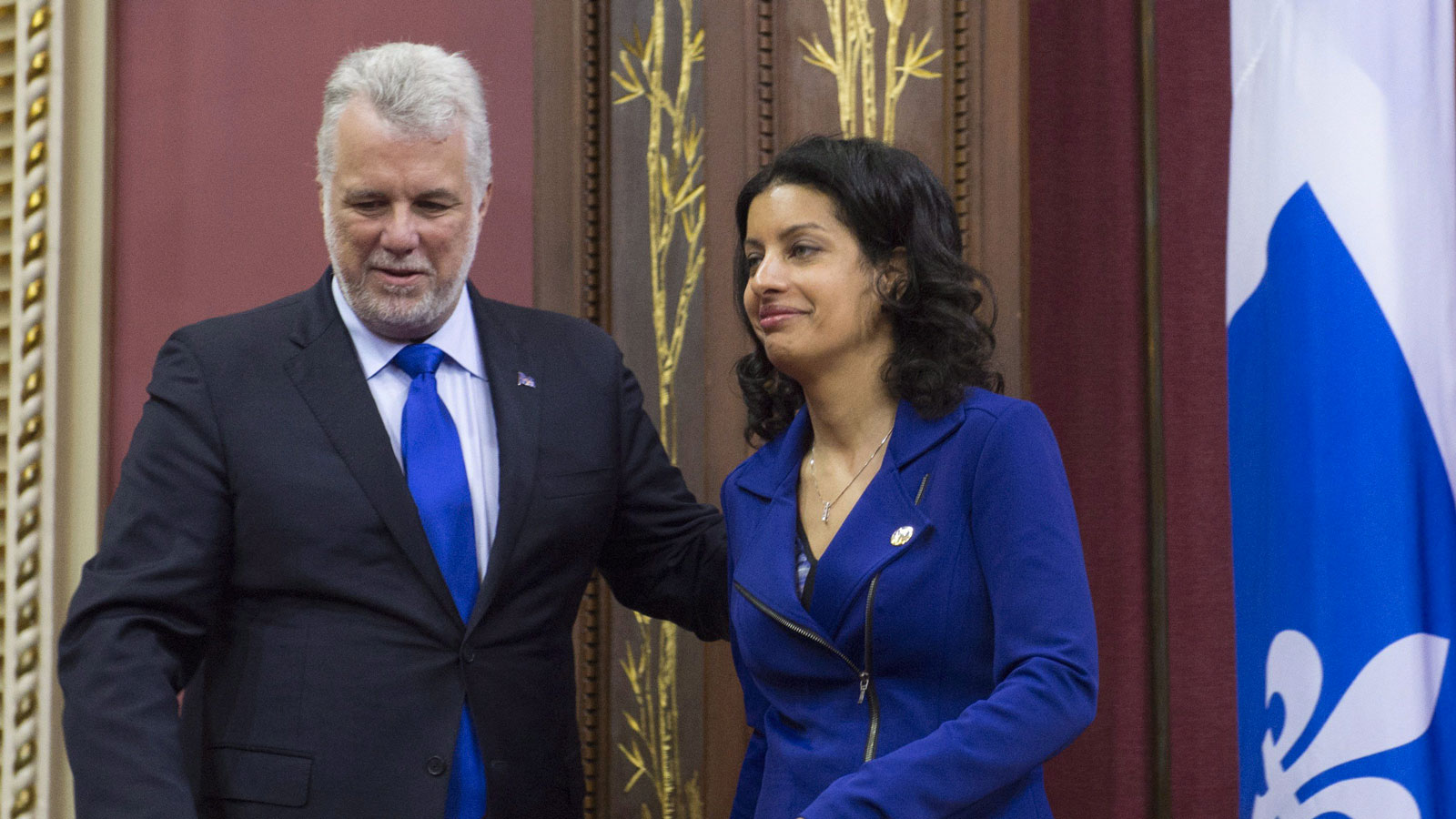 Philippe Couillard et Dominique Anglade. (Photo: Jacques Boissinot/La Presse Canadienne)