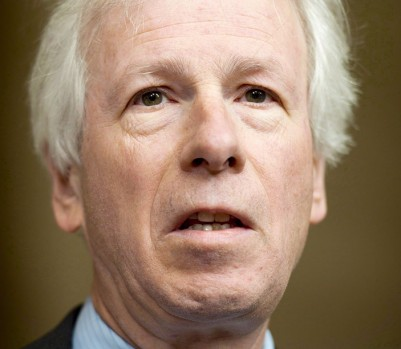 Liberal MP Stephane Dion comments on the Supreme Court decision on the Senate Friday April 25, 2014 in Ottawa..THE CANADIAN PRESS/Adrian Wyld