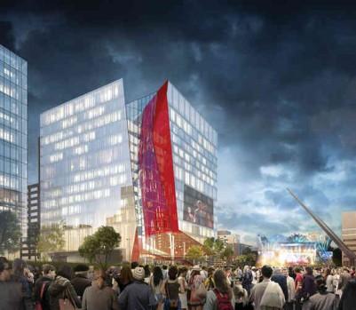 Quartier des spectacles Îlot Balmoral ONF architecture
