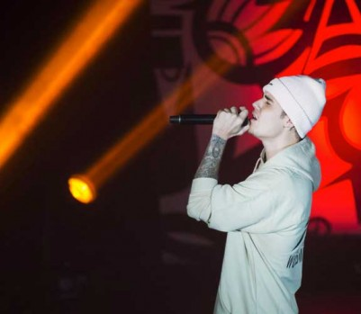 La chanson «What Do You Mean?» de Justin Bieber a été écoutée 21 millions de fois sur Spotify dans les cinq jours suivants sa sortie en septembre 2015. (Photo: Nathan Denette/La Presse Canadienne)
