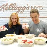 Les chefs Christina Tosi et Anthony Rudolf à l'ouverture de la succursale Kellogg's de Time Square. (Diane Bondareff/AP Images for Kellogg's)