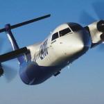 Un appareil Q400 de Bombardier, un appareil optimisé pour les opérations court-courriers et pouvant accueillir jusqu'à 90 passagers. (Photo: Bombardier)