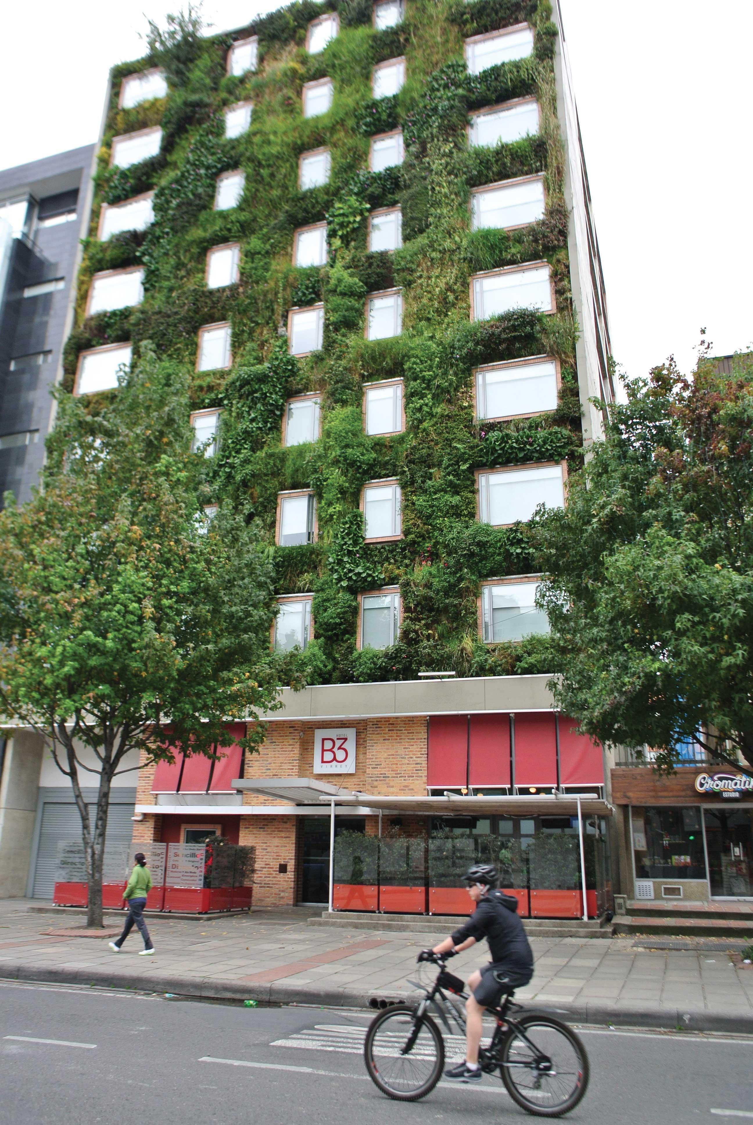 À Bogotá, l'entreprise Groncol contribue à verdir les rues en construisant des murs végétaux. En cinq ans d'existence, la PME a répondu à 120 commandes. (Photo: David Riendeau)