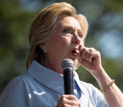 Hillary Clinton santé toux health