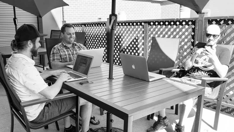 Au siège social de Mirego, à Québec, la direction a créé un environnement des plus invitants pour ses employés... et même leur famille! (Photo: Jean-Bernard Filion)