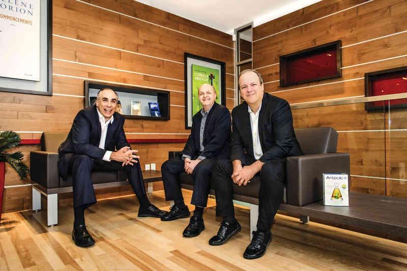 Les fondateurs d'Antidote: André d'Orsonnens, Bertrand Pelletier et Éric Brunelle. (Photo: Daphné Caron)