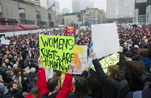 Womens March,.  Graham Hughes / La Presse Canadienne