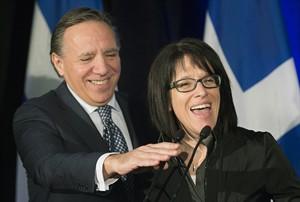 Sonia LeBel, Francois Legault,.  Graham Hughes / La Presse Canadienne