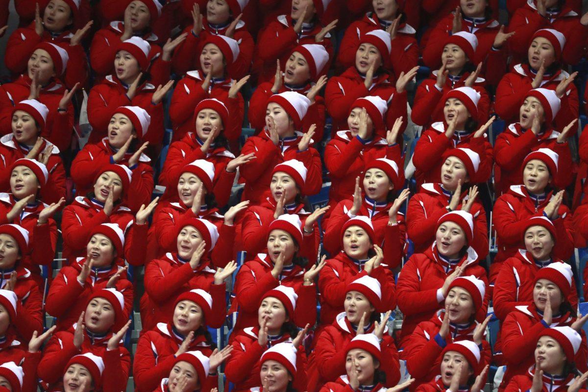 Cheerleaders Corée du nord PyeongChang 2018