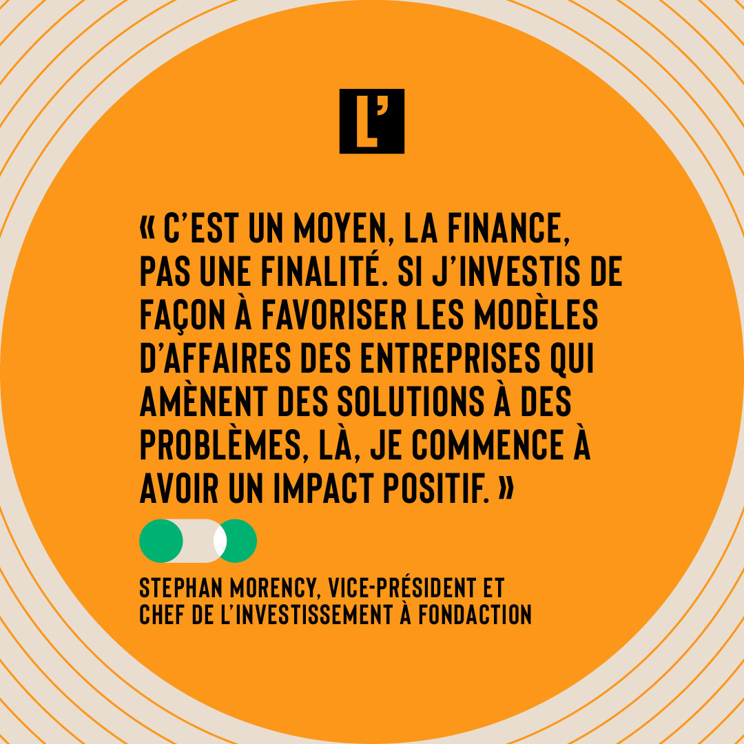 Citation Stephan Morency, Fondaction
