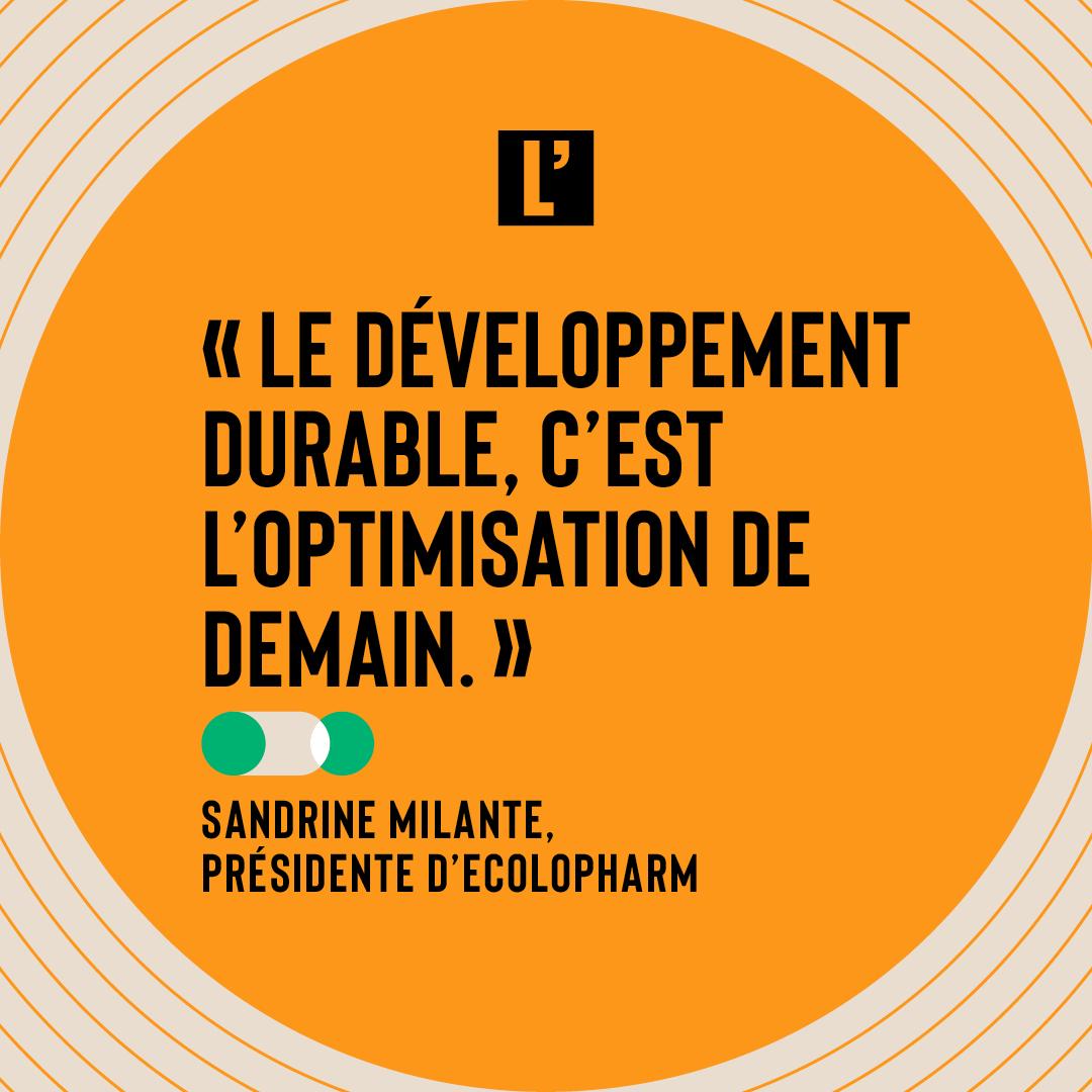 Citation Sandrine Milante, EcoloPharm